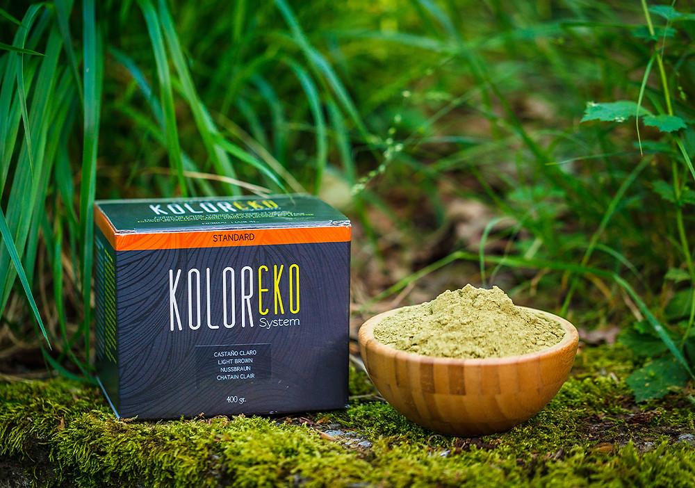 Coloración cabello plantas Koloreko