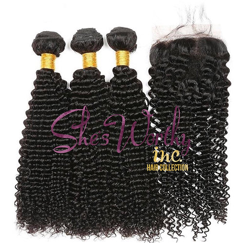 3 BUNDLES + CLOSURE $185.00-$290.00