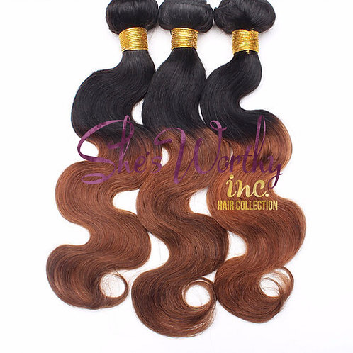 OMBRE' Black/Dark Brown3 BUNDLES $150.00-$285.00