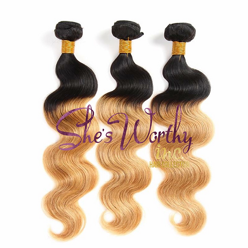 OMBRE' Black/Honey Blonde 3 BUNDLES $150.00-$285.00