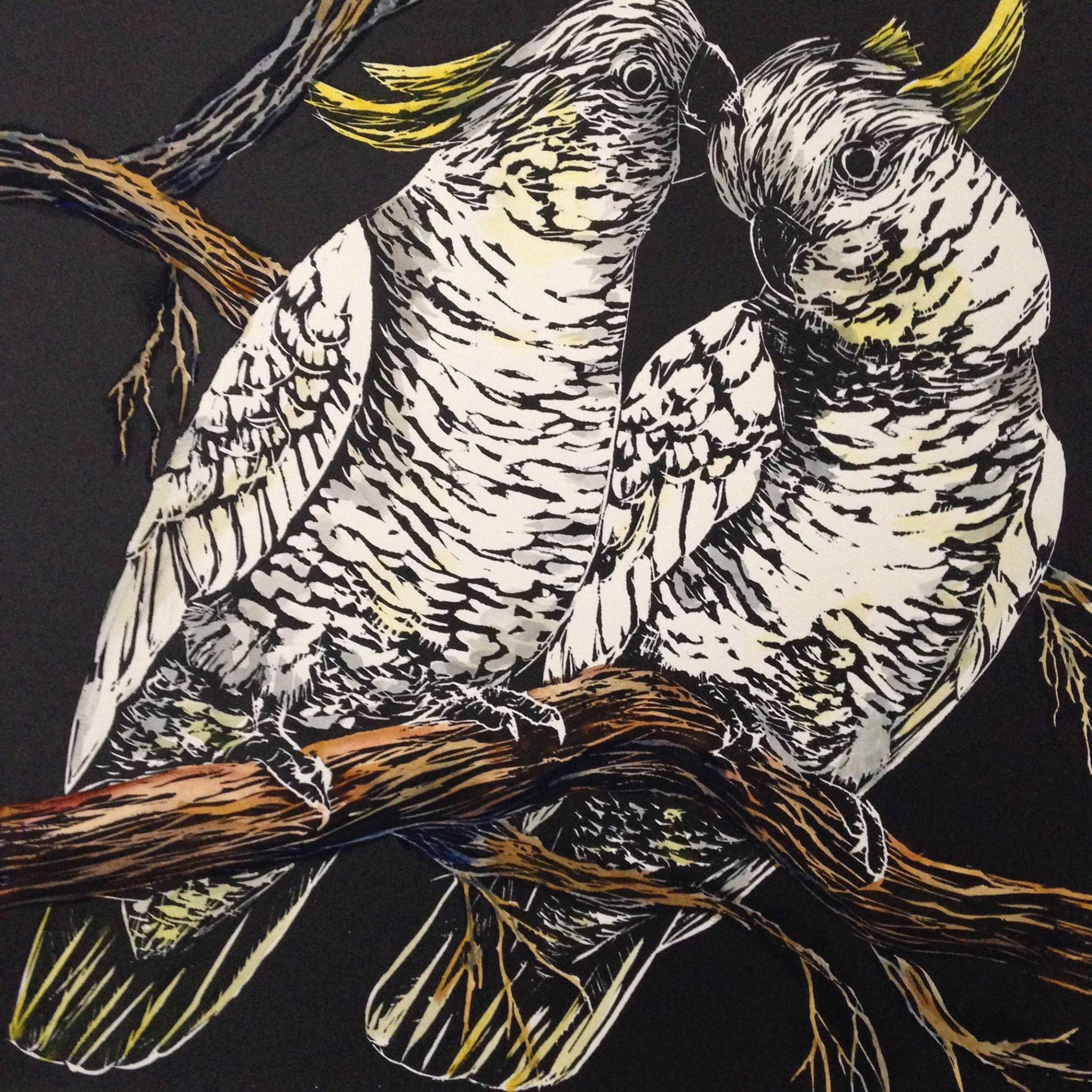 Cockatoo Couple