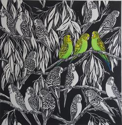 Spot coloured print