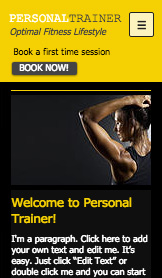 Sport & Recreation website templates – Fitness Training