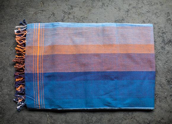 Kikoy - Orange on Blue