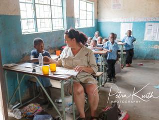 Besuch bei der Matula Primary School Übergabe von Spenden