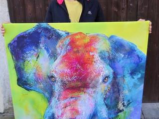 Ein Elefant in Frankreich - Selengai ist angekommmen