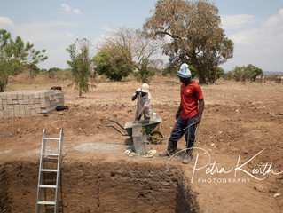 Der Bau neuer sanitärer Anlagen