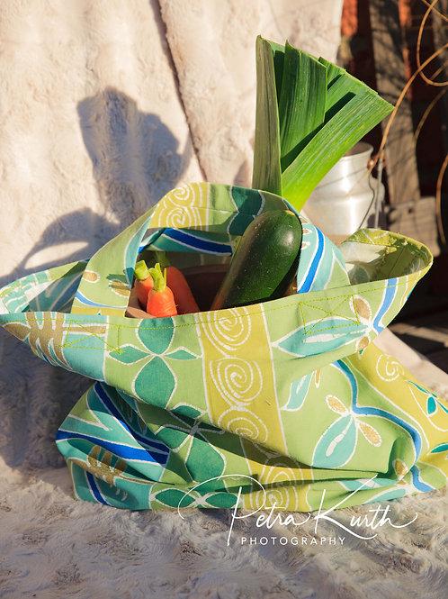 Markttasche handbemalter Stoff aus Zambia