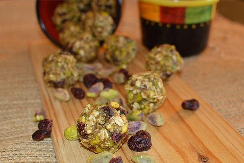 Cranberry and Pistachio Energy Ballz - Dozen