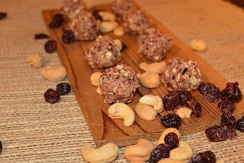 Salted Cashew & Cranberry Energy Ballz - Dozen