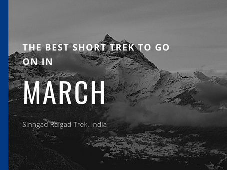 The Best Short Trek To Do In March - Sinhgad Raigad Trek