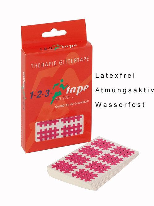 123Gittertape Rot/Pink
