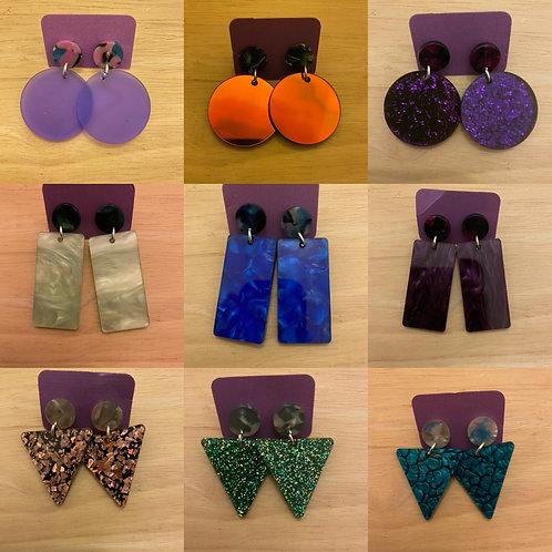 Geometric Dangle Earrings Drop 2