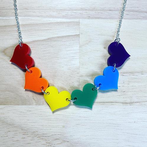 Pride Hearts Necklaces