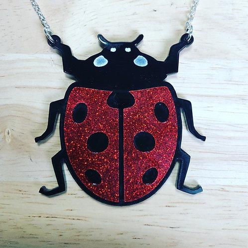 Acrylic Glitter Ladybird