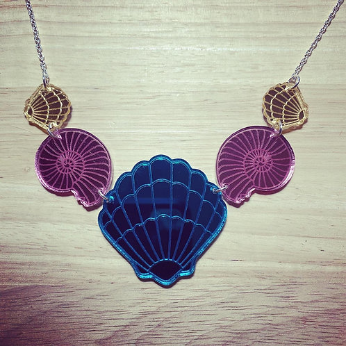 Mirrored Seashell Necklace