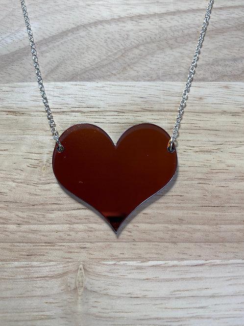 Iridescent Heart Necklace