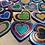 Thumbnail: Random Glitter Rainbow Heart Necklace