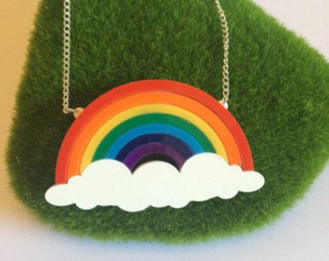 Rainbow & Cloud Necklace