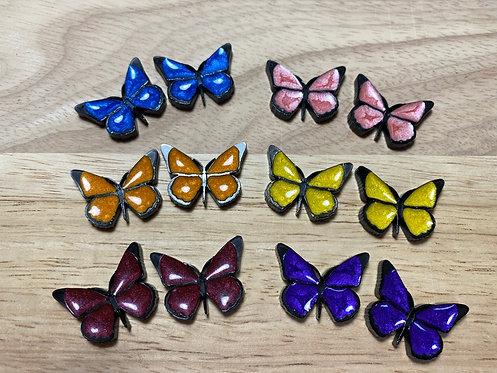 Resin Butterfly Earrings