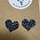 Thumbnail: Multi Coloured Glitter Heart Earring Studs