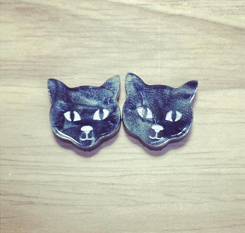 Marbled Cat Earrings