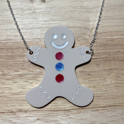 Clive the Gingerbread Man Necklace