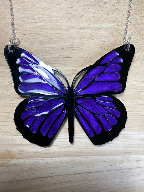 NOT PERFECT - Purple Acrylic and Resin Butterfly