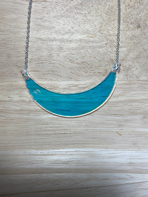 NOT PERFECT - Iridescent Crescent Necklace