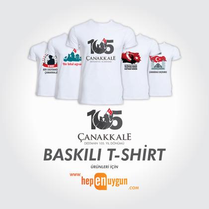 Çanakkale-105.yıl-18-Mart-Basklı-T-shirt