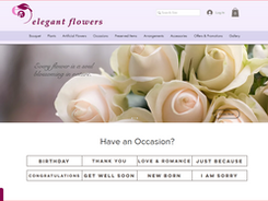 تصميم موقع ايليجنت للزهور