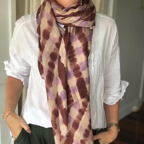 Shibori Silk Scarves