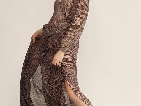 Stunning shibori silk