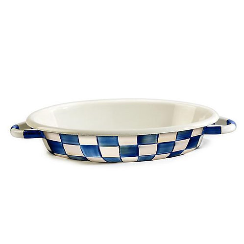 Royal Check Oval Gratin Dish - Medium