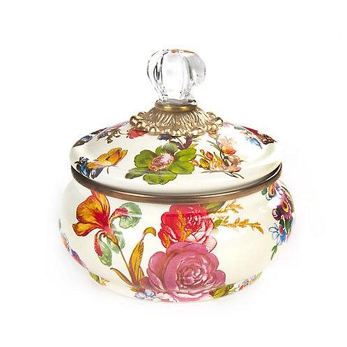Flower Market Enamel Squashed Pot