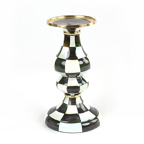 Courtly Check Pillar Candlestick - Medium
