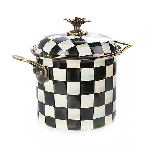 Courtly Check Enamel 7 Qt. Stockpot