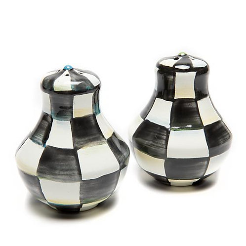Courtly Check Salt and Pepper Shakers - Small