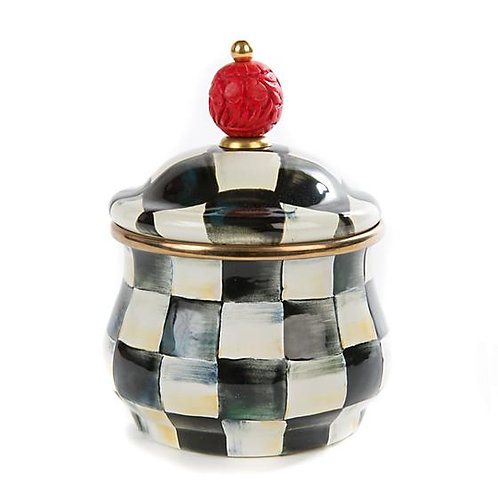 Courtly Check Lidded Sugar Bowl