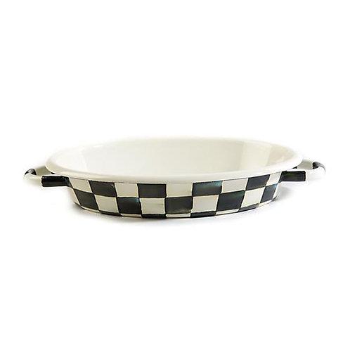 Courtly Check Oval Gratin Dish - Medium