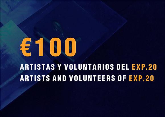 Precio especial: Artistas EXP.20 + Voluntarios
