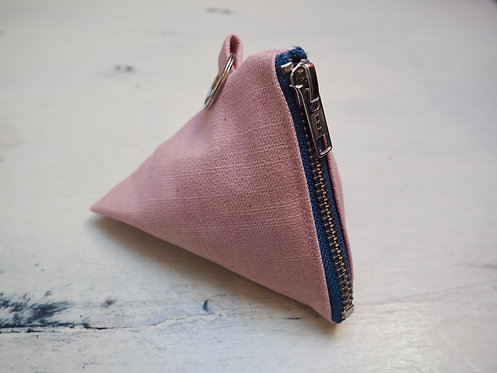 PINK DENIM COIN POUCH