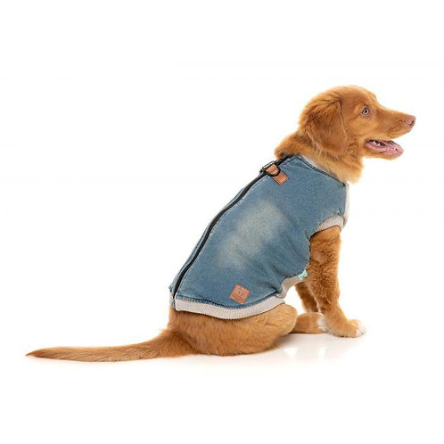 FuzzYard  MacGyver Harness Dog Jacket Denim