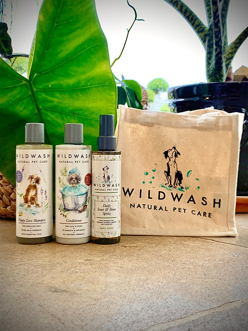 Wildwash Puppy Gift Set With Smell Fresh
