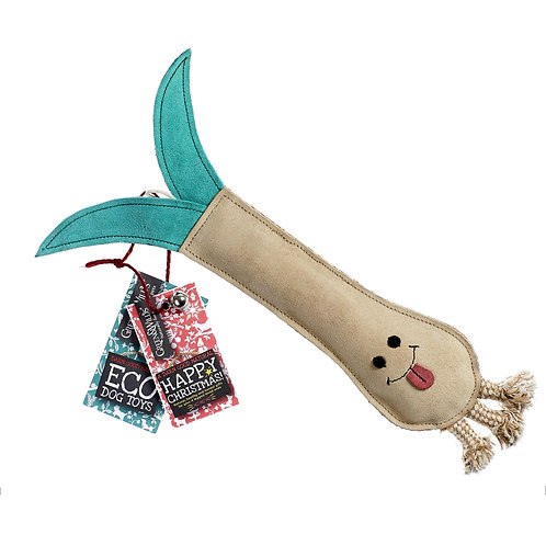 Green & Wilds Lenny The Leek Eco Dog Toy