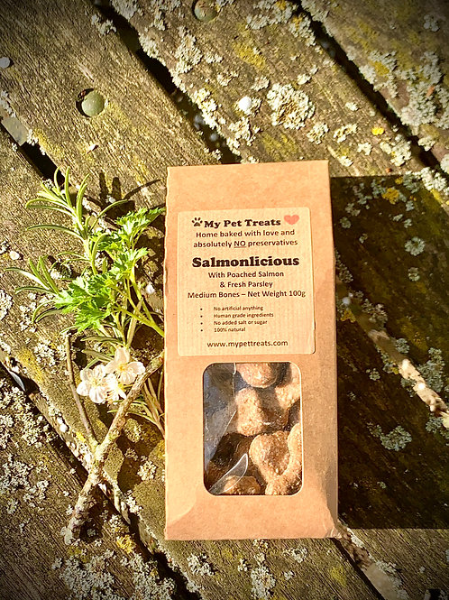 My Pet Treats Salmonlicious With Poached Salmon Dog Treats
