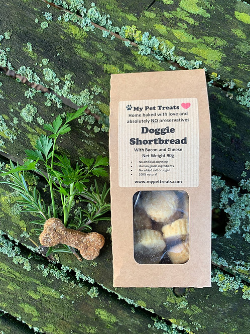 My Pet Treats Doggie Shortbread With Bacon & Cheese Dog Treats