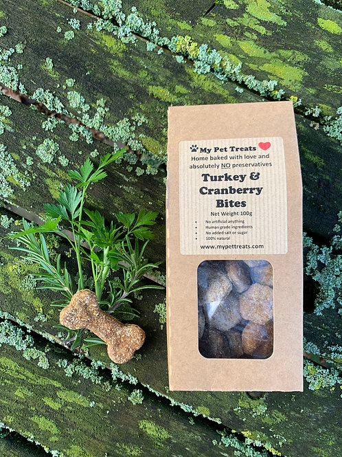 My Pet Treats Turkey & Cranberry Bites Dog Treats