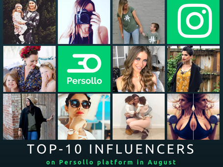 TOP-10 Influencers on Persollo Platform in August