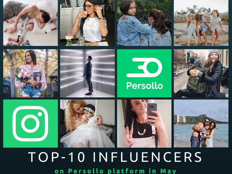 TOP-10 Influencers on Persollo Platform in May